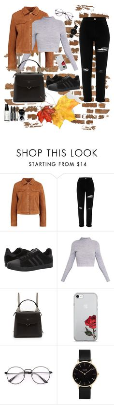 """""""Untitled #114"""" by marielu1 ❤ liked on Polyvore featuring River Island, adidas, Fendi, CLUSE and Bobbi Brown Cosmetics"""
