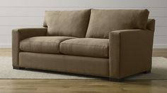 love seat. Axis II Apartment Sofa | Crate and Barrel