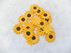 Die cuts paper sunflowers 50 pcs 1 inch paper by eastmeetswest