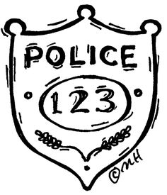 Police officer badge clip art police badge template for Police badge template for preschool
