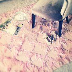 Rhiannon's Flamingo Pink Cou Cou Rug