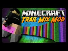 Minecraft Mod Review: TRAIL MIX MOD! (Nyan Pig Launcher, Ignition Horses & More!) Minecraft Horse, Trail, Lego, Horses, Kids, Young Children, Boys, Children, Horse