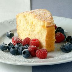 Orange Cake with Fresh Berries | MyRecipes.com