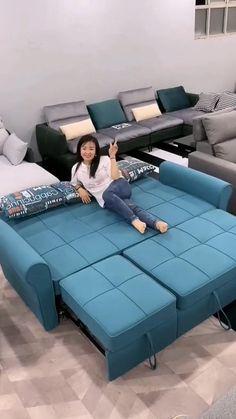 Corner Sofa Design, Sofa Bed Design, Living Room Sofa Design, Room Design Bedroom, Bedroom Furniture Design, Home Decor Furniture, Sofa Furniture, Sofa For Living Room, Sectional Sofa Decor