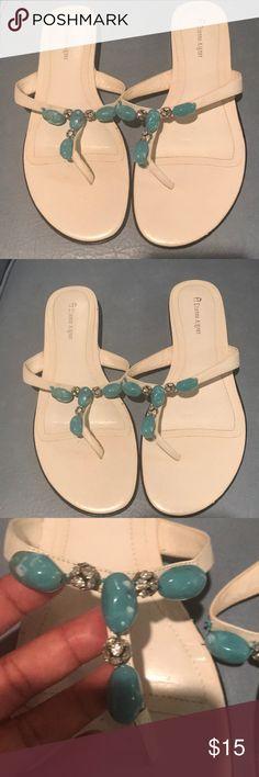 "5de30585d9f Cute Slip On ""Etienne Aigner"" Slide Sandals.😍😍 Worn Once Just Cute Enough  To Slip On Headed Out The Door ""Etienne Aigner"" Slide Sandals."