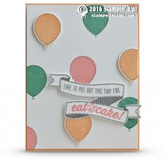 "SNEAK PEEK: Birthday Banners Balloons Card | Stampin Up Demonstrator - Tami White - ——— S U P P L I E S ———  • Flirty Flamingo Classic Stampin' Pad	141397 • Peekaboo Peach Classic Stampin' Pad	141398 • Peekaboo Peach 8-1/2"" X 11"" Cardstock	141417 • Whisper White 8-1/2X11 Card Stock #100730 • Balloon Bouquet Punch #140609 • Stampin' Trimmer #126889 • Big Shot Die-Cut Machine #113439 • Paper Snips #103579 • Bone Folder #102300 • Stampin' Dimensionals #104430 • Snail Adhesive #104332  an InLink..."