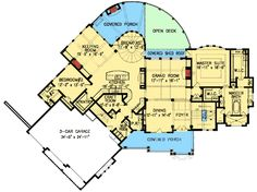 on deluxe mountain craftsman dream home plan 15688ge