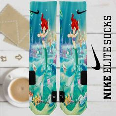 Ariel The Little Mermaid Disney Custom Nike Elite Socks