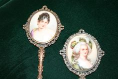 Antique Porcelain Mirrors