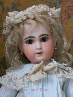 ~~~ Very Beautiful French Bisque Jumeau Size 10 ~~~ from whendreamscometrue on Ruby Lane