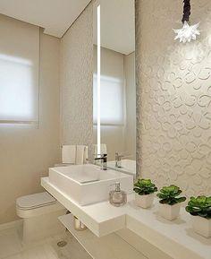 Inspiração de lavabo. ❤️ Projeto: Oscar Mikail #decoracao #banheiros #lavabos #reforma #construcao #arquitetura #design #homedecor #arq #interiores #interiordesign #designdeinteriores #decoracao #decor #projetos