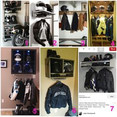 Motorcycle gear storage ideas