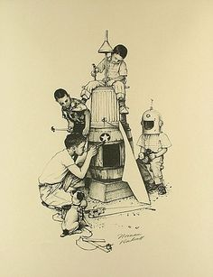 """Rocket Ship""   Norman Rockwell"