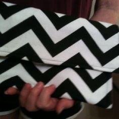 Cute Black and White summer chevron clutch - completed sewing it this week!