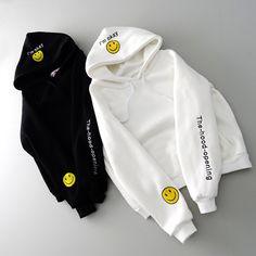 "Universe of goods - Buy ""Korea Style Harajuku Hoodies Women Fashion Cartoon Smile Letter Printing Streetwear Casual Pullovers Basic Sweatshirts for only 8 USD. Stylish Hoodies, Cheap Hoodies, Cool Hoodies, Hoodie Sweatshirts, Cartoon Smile, Harajuku, Korea Fashion, Sweat Shirt, Pulls"