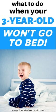 How to get your 3 year old to stay in bed. What to do when your 3 year old won't go to bed. How to solve your toddler's sleep regression. #toddlersleep Fun Activities For Toddlers, Parenting Toddlers, 3 Year Olds, Three Year Olds, Toddler Sleep Training, Toddler Nap, Toddler Schedule, Stay In Bed, How To Have Twins