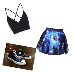"""neon party outfit"" by monsterhigh837 on Polyvore featuring Topshop and Converse"