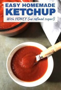 This is EASY Homemade Ketchup will blow your mind and make you feel so accomplished! It takes only MINUTES to make and has only 5 Ingredients. Honey is the natural sweetener instead of refined sugar and I am not kidding you it tastes amazing! Summer Recipes, Fall Recipes, Dinner Recipes, Incredible Recipes, Amazing, Homemade Ketchup, Plant Based Eating, Cooking With Kids, Cooking Tips