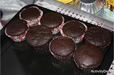 Freshly baked cupcakes made by students