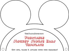 The MamaZone: Free Printable Mickey Mouse Ear Template Craft
