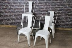 These hand distressed vintage tolix style chairs are a fantastic addition to our immense range of vintage and industrial furniture. It is a great...