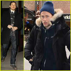 Charlie Hunnam Braves the Cold in New York City! | Charlie Hunnam : Just Jared