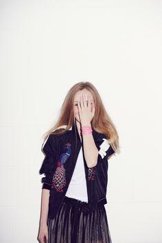 Emma Tunbridge - Kids Fashion- Une Fille- Childrensalon- hand over face- beautiful child photography- girls fashion- kids fashion editorial