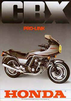 23207. - MOTORCYCLE - HONDA 1981 - CBX 1000 - Pro link -  29x41-.