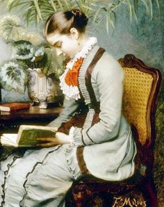 Дама с книгой