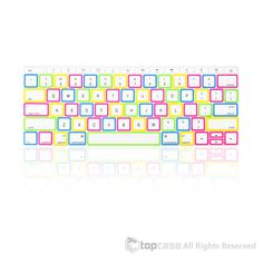 """Apple New Macbook 12"""" Candy White Keyboard Cover Silicone Skin for Macbook 12-inch with Retina Display Model A1534 Newest Version 2015"""