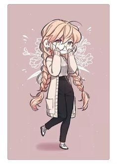 Kpop Drawings, Anime Girl Drawings, Cute Drawings, Cute Anime Chibi, Chica Anime Manga, W Two Worlds Wallpaper, Couple Wallpaper, Cute Anime Character, Character Art