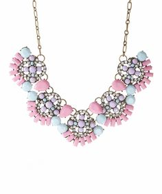 Look what I found on #zulily! Valshi Pink Floral Bead Statement Necklace by Valshi #zulilyfinds