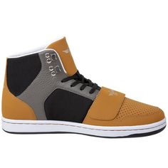Creative Recreation Men's Tan, Black & Gray Cesario High-Top Sneaker - Style and Comfortability - View more pics and learn the beginning of Creative Recreation shoes at http://verysmartdesign.com/recreation/
