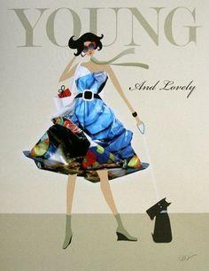 Dominque-Vari-Young-and-lovely-Fertig-Bild-30x40-Mode-Wandbild-modern-Fashion
