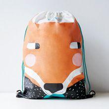 100% Polyester U-PICK Original Cartoon Animal Pattern Drawstring Bag for Clothes Sport Shoe Book Travel Backpack Camping Hiking(China (Mainland))