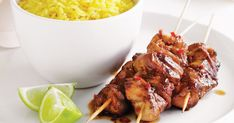 Kecap manis, which is a sweet Indonesian soy sauce, makes these chicken skewers sticky and delicious.