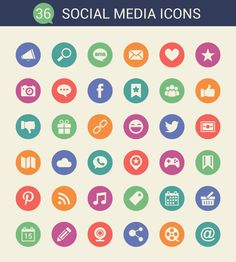 Here is a collaborations of 50 free high quality social media icon sets that come in different formats like SVG, PNG, AI, ICO etc. and useful for designers Social Media Icons, User Interface Design, Icon Set, Free, Designers, Bullet Journal, Internet, Logo, Ideas