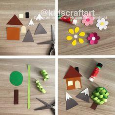 ДЕТСКИЕ ПОДЕЛКИ Diy And Crafts, Holiday Decor, Art For Toddlers, Necklaces