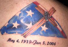 In Memory of my Grandpa done by Beto at Black Pearl Tattoo Fresno CA Tattoos For Guys Badass, Cool Tattoos, Flag Tattoos, Ink Tattoos, Pearl Tattoo, Browning Tattoo, Tattoo Designs, Tattoo Ideas, Deathly Hallows Tattoo