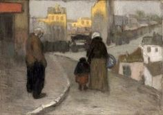 """""""Street Scene"""" by Pablo Picasso 1900"""