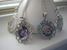 """Personalised Photo Pendant Necklace - 18"""" Necklace - Personalised Gift - All occasions"""