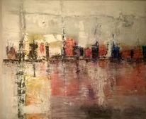 Abstrakt, Landschaft, Abstrakte landschaft, Rot