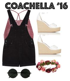 """Coachella '16"" by fulltimelife ❤ liked on Polyvore featuring Glamorous, Tabitha Simmons, Monki and Forever 21"