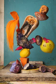 Lorenzo Vitturi Hairy orange, yellow balloons and rotten camote #2 Vitturi used Ridley Road Market as 'a kind of prop house'