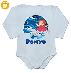 Cheerful Portrait Of Ponyo Baby Long Sleeve Romper Bodysuit Extra Small - Baby bodys baby einteiler baby stampler (*Partner-Link)