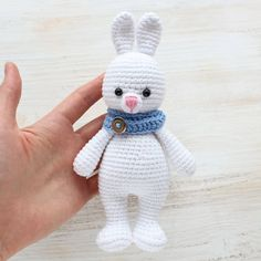 Follow our Cuddle Me Bunny Amigurumi Pattern to crochet a lovely soft gift for your friends and family!