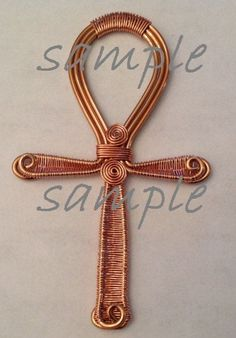 Wire Wrapped Jewelry Tutorial Copper Ankh by PerfectlyTwisted