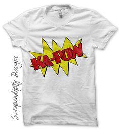 Comic Book Iron on Shirt PDF Kapow Iron by ScrapendipityDesigns, $2.50