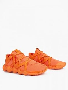Y-3 Orange Kyujo Low Sneakers The Y-3 Kyujo Low Sneakers for AW16, seen here in orange. - - - - Yohji Yamamoto demonstrates his inimitable aesthetic as he presents the Kyujo High silhouette for AW16. Part of his ongoing collaborat http://www.MightGet.com/january-2017-13/y-3-orange-kyujo-low-sneakers.asp