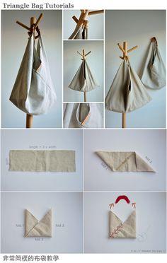 Origami bag fabric ideas for 2019 Fabric Crafts, Sewing Crafts, Sewing Projects, Sewing Ideas, Origami Bag, Origami Envelope, Origami Hearts, Origami Boxes, Origami Bookmark